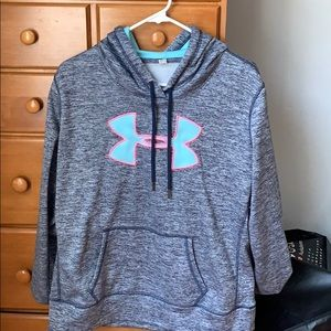 navy blue under armour sweatshirt